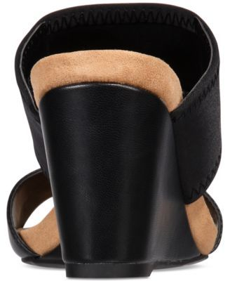 Alfani Women's Step 'N Flex Parrker Slip-On Wedge Sandals, Only at Macy's - Black 8.5M