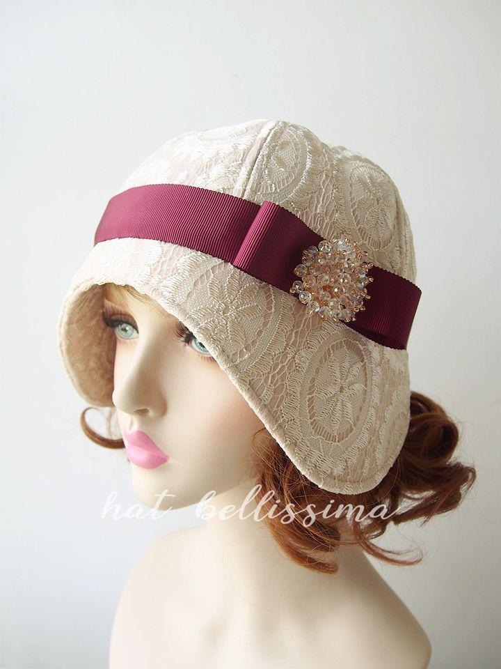 e549c6d7bb9 Ivory color 1920 s Cloche Hat Vintage Style hat winter Hats hatbellissima  ladies…