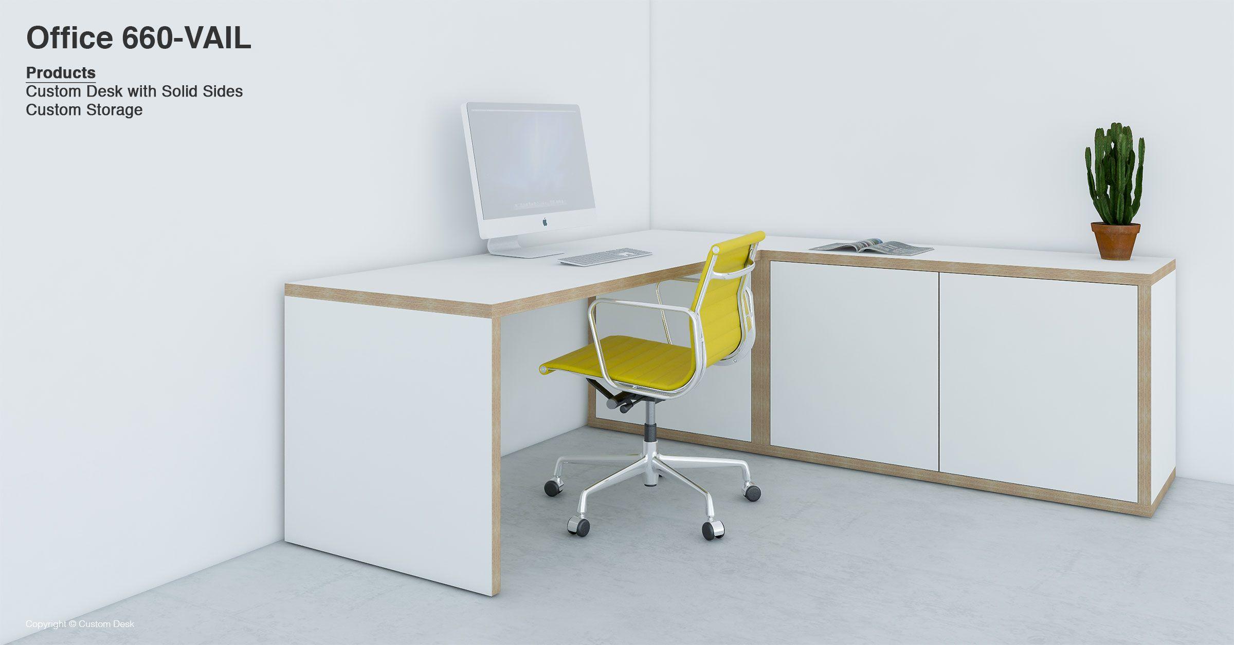 custom office desk. White Plywood Corner Desk, Made To Measure Desk For Home Office Custom