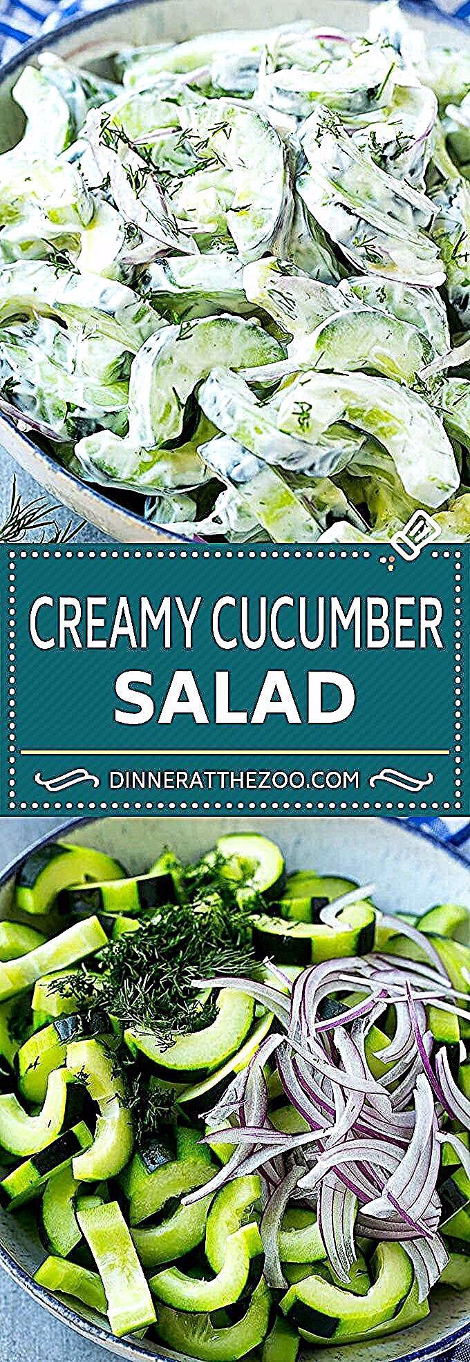 - Creamy Cucumber Salad Recipe   Cucumber Dill Salad   German Cucumber Salad   Cucumber Sour Cream Salad #cucumber #salad #recipe #dinneratthezoo #foodforlife #fooddiaries #foodvideos #foodies #instagram #cooking #fooddaily #foodiepics #foodpictures #foodporn #restaurant #Foods4Thought #eat #amazing #homemade