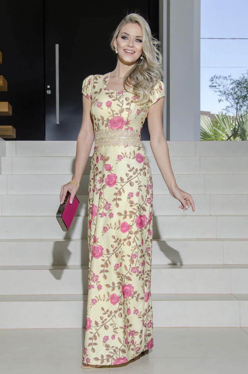 c82db5e6f MARIA AMORE FEMALE EVANGELICAL FASHION   Digital Printed Satin Dress ...