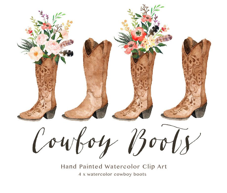 Watercolor Cowboy Boots Wedding Small Set Individual Png Etsy In 2021 Wedding Cowboy Boots Cowboy Boots Clip Art