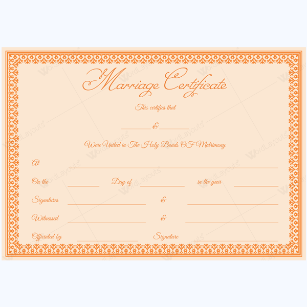 Marriage Certificate (1829 ORG)