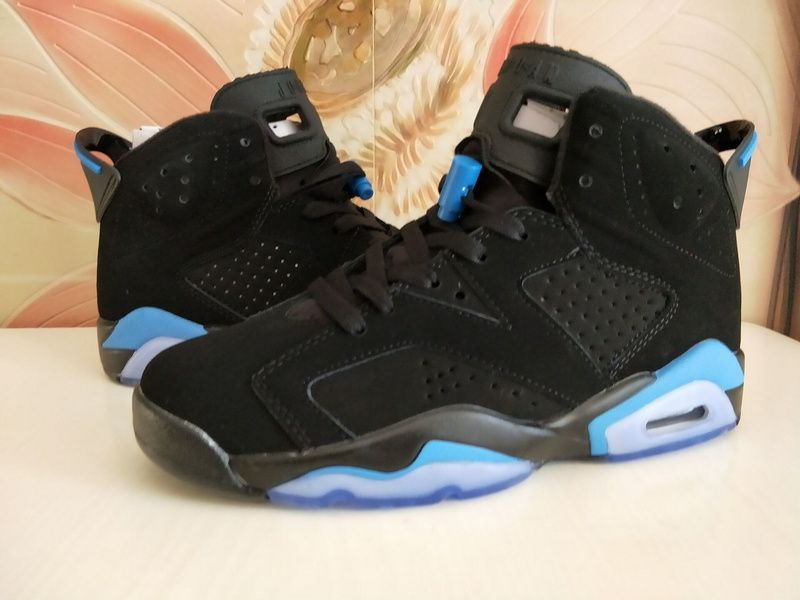 4ca3bf5f6667 2017 Girls Air Jordan 6 GS UNC Black University Blue Shoes For Sale-2