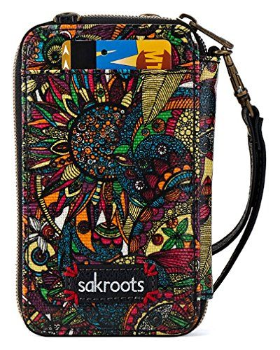 53fa311dac6d Sakroots Artist Circle Smartphone Wristlet Cross Body Bag