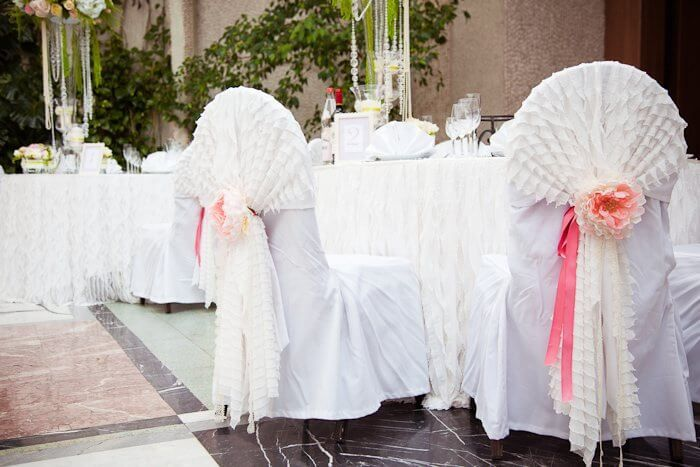 свадебные банты для стульев