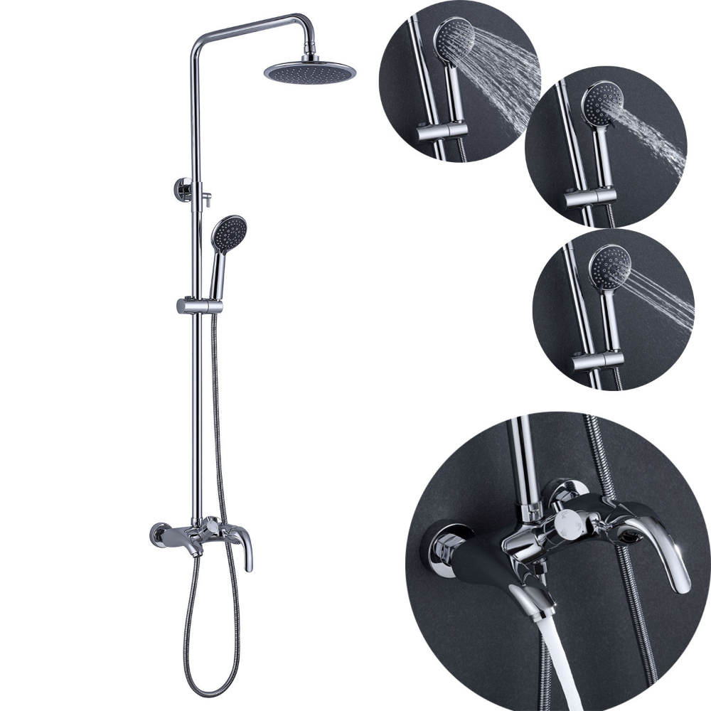 Modern Chrome Shower Faucet System In 2020 Shower Faucet Sets