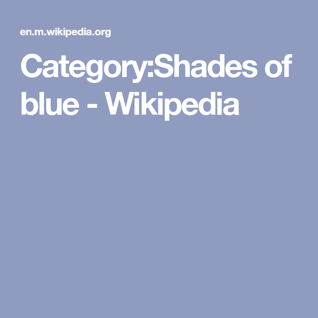 Category Shades Of Blue Wikipedia