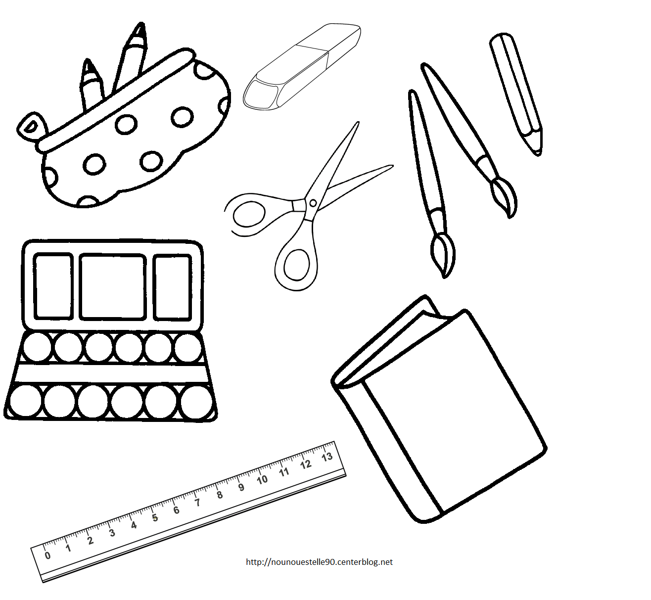 coloriage des affaires scolaire - Yahoo Image Search ...