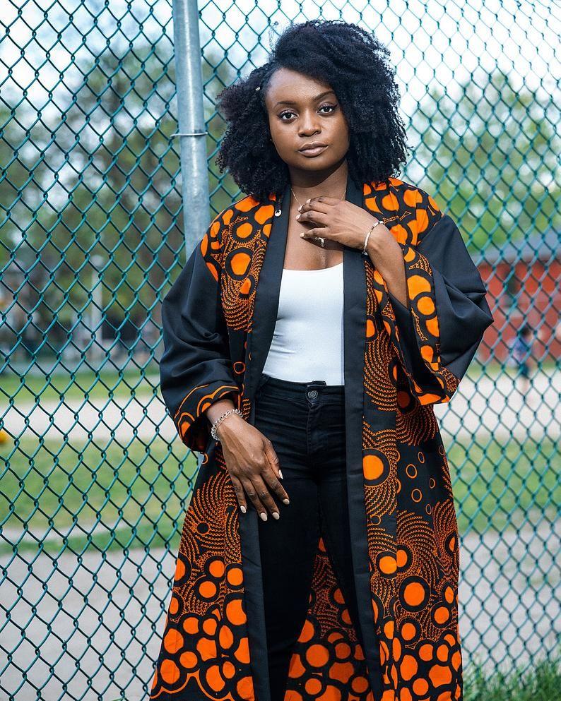 Ankara Kimono 'Aya' Ankara kimono/African print Kimono style