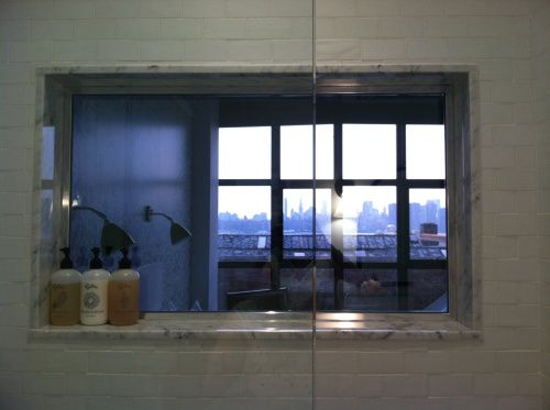 Two Way Mirror From Bathroom Into Room At Hotel Wythe In Williamsburg,  Brooklyn #