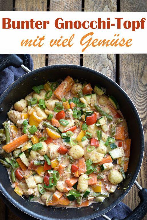 Bunter Gemüse-Gnocchi-Topf.
