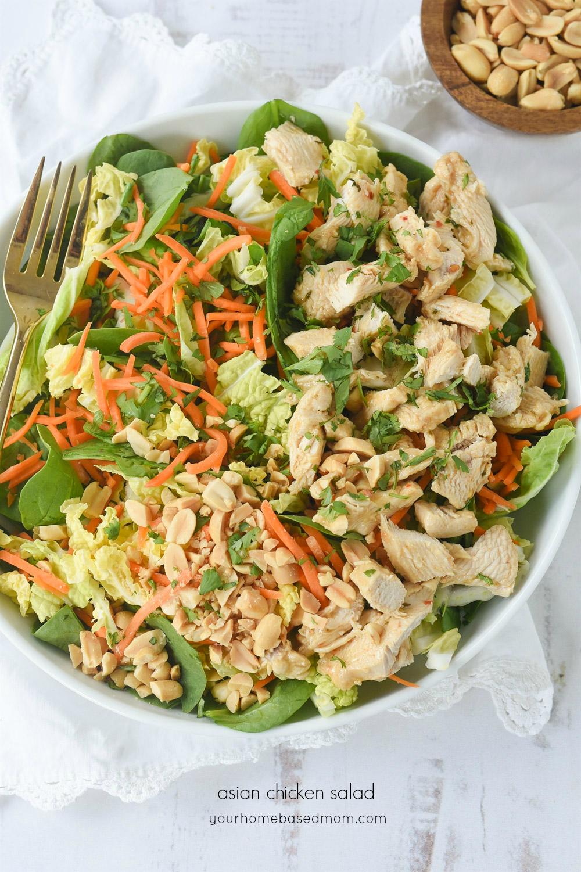 Crunchy Asian Chicken Salad Recipe Asian Chicken Salad Recipe Main Dish Salads Delicious Dinner Recipes