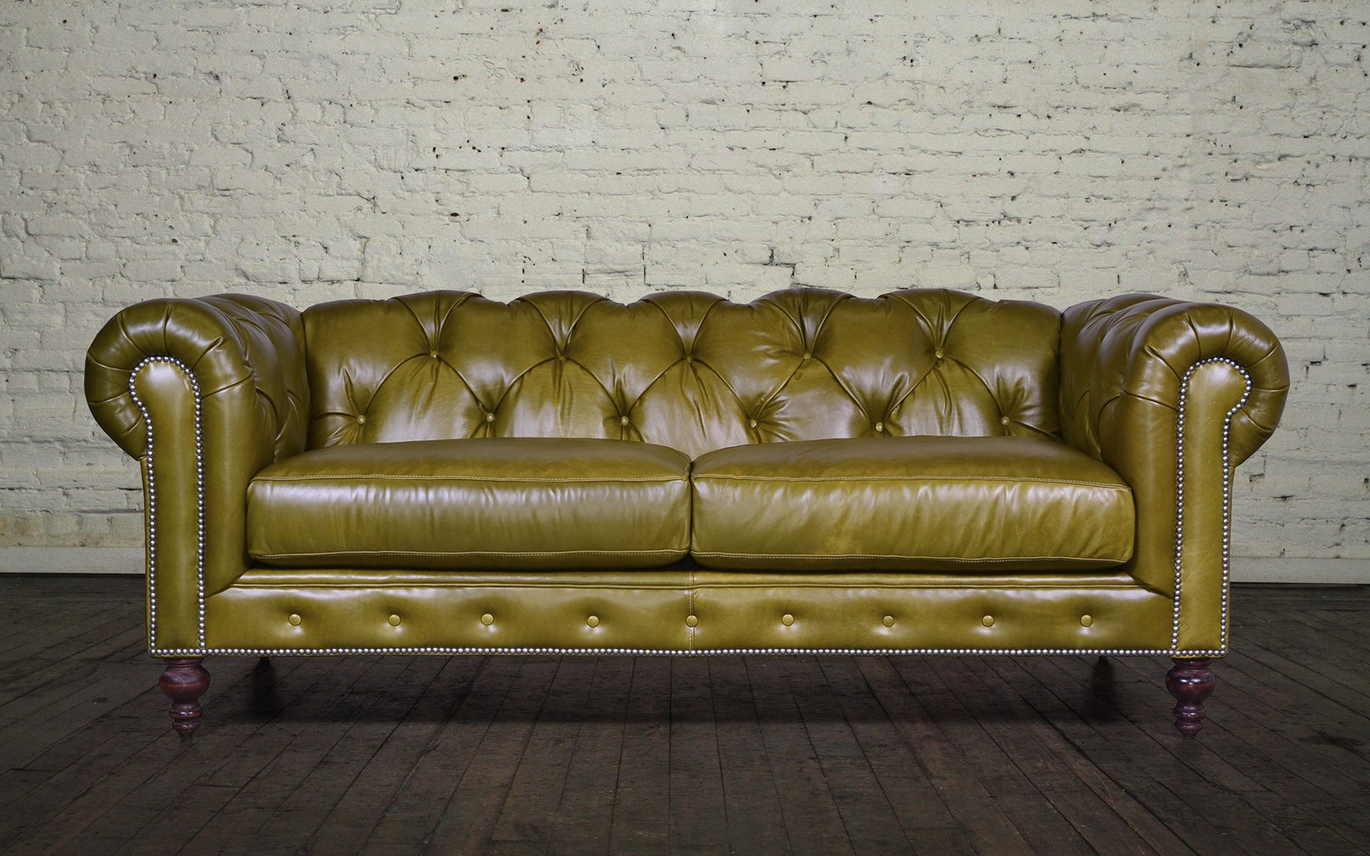 Chelsea Chesterfield Leather Sofa - Made in USA | Leather ...