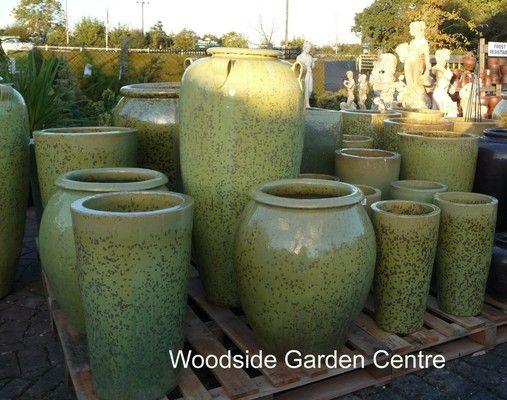 Large Swamp Green Glazed Pot Water Jar | Woodside Garden Centre | Pots To  Inspire