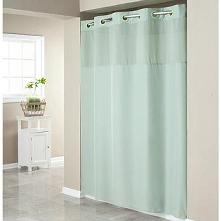 Hookless Sage Green Mystery Polyester Shower Curtain Dengan Gambar