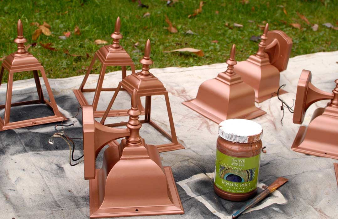 Living Rich On Lessliving Rich On Less: Modern Masters Copper Penny Metallic Paint On Outdoor