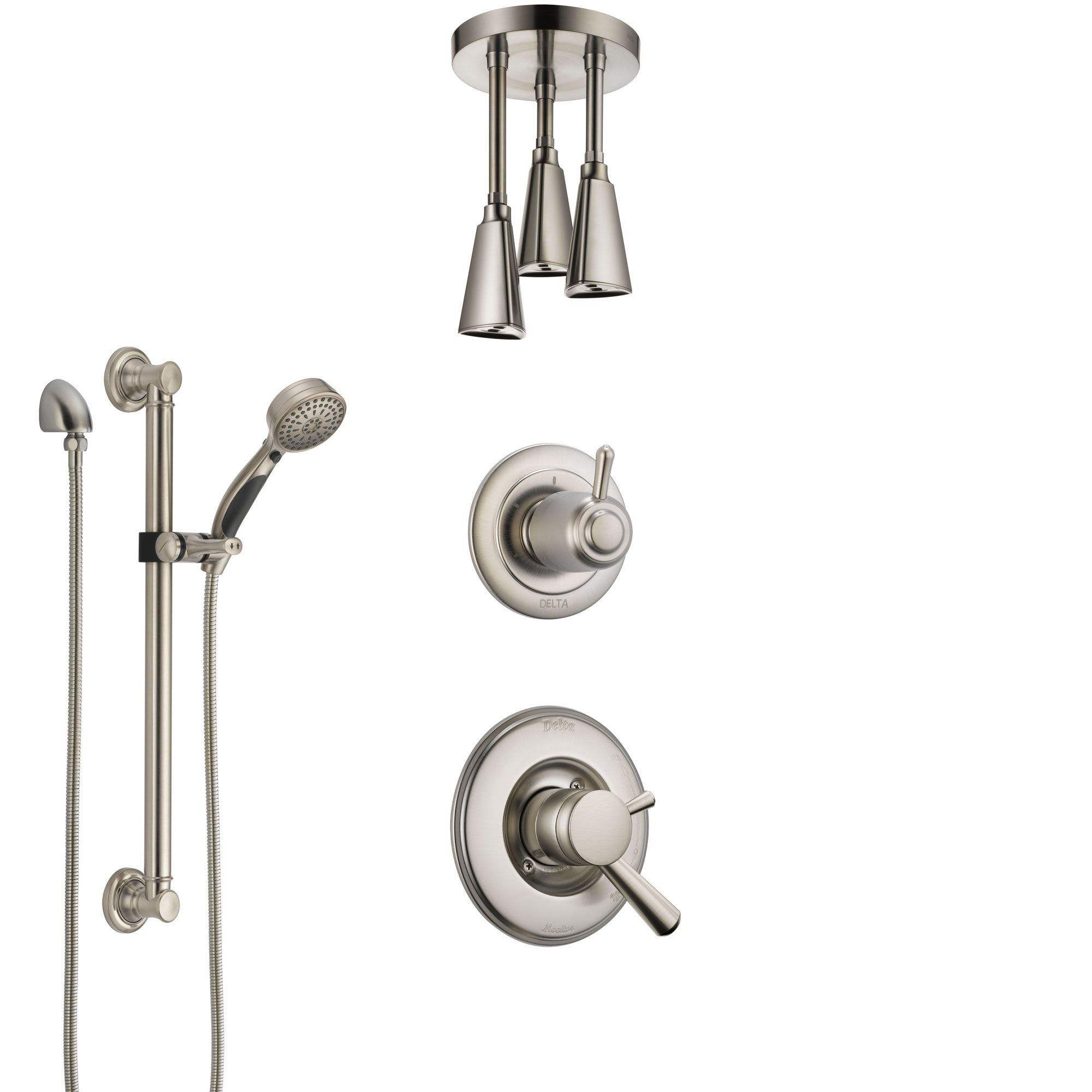 Delta Linden Dual Control Handle Stainless Steel Finish Shower