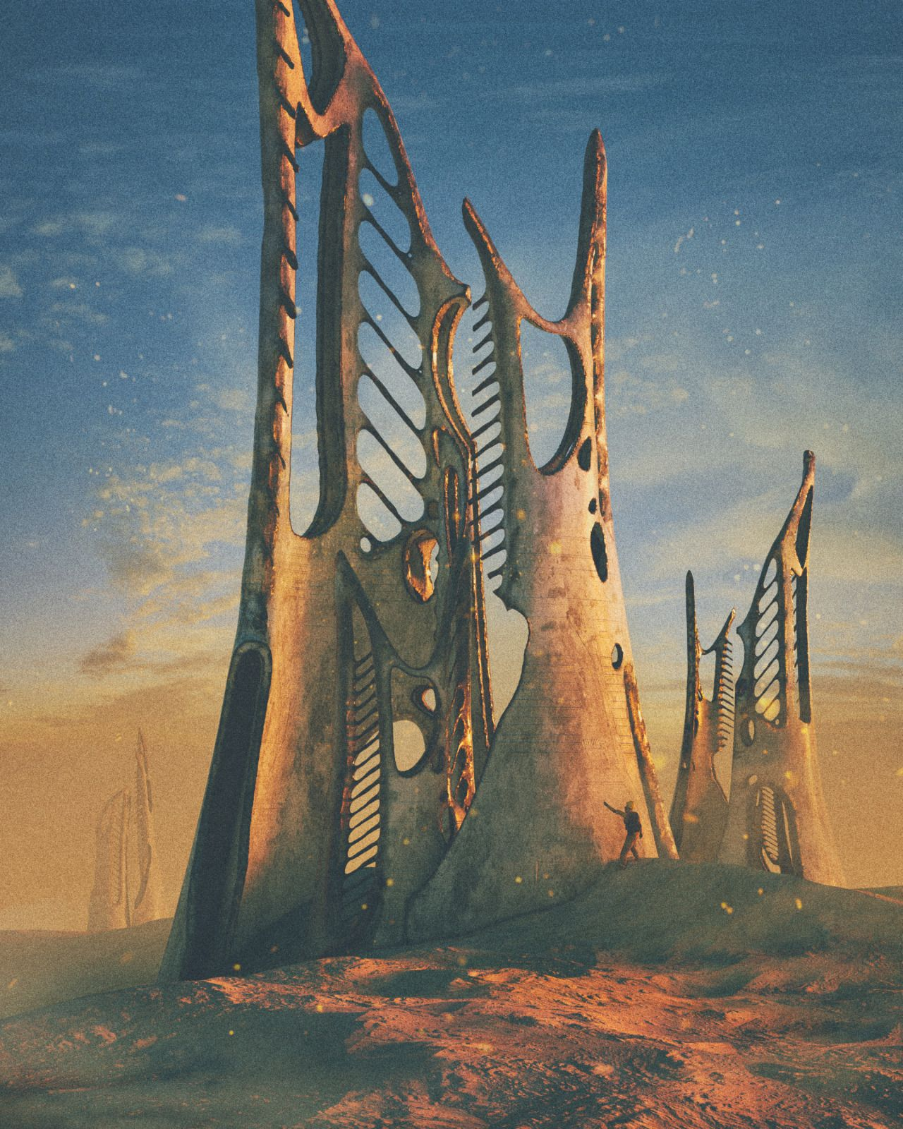 The Vault of Retro Sci-Fi — beeple: GREAT CARCASS | Ruined Cities