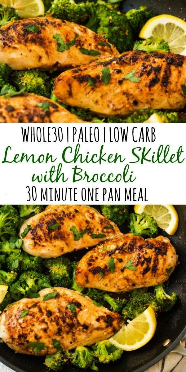 Whole30 lemon chicken skillet with broccoli is my favorite quick 30 minute ... -  This Whole30 lemo