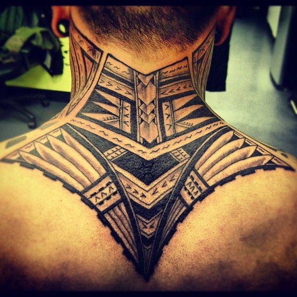 Samoan Tribal Neck Tattoo Polynesian Tattoo Inked Tribal Neck