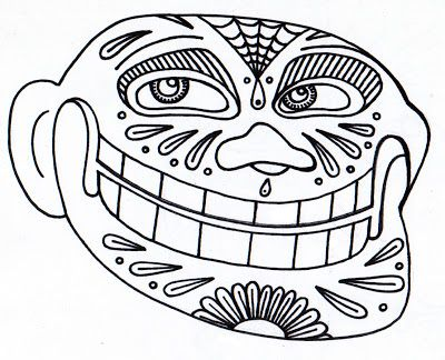 Yucca Flats, N.M.: Wenchkin's coloring pages - Dia de los Troll