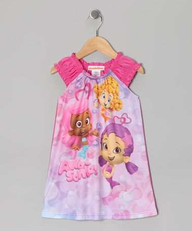 37100be9c Take a look at this Purple   Pink Bubble Guppies Nightgown - Toddler ...