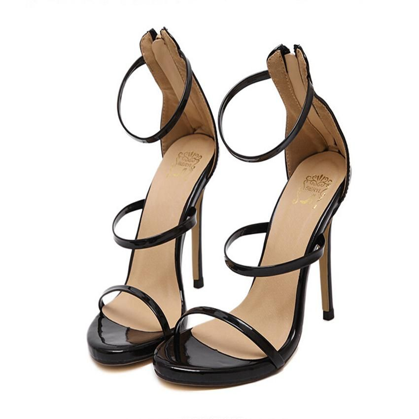 2fd48838108c 2016 Gold Silver Nude Black Celebrity Brand New Desiger Womens Bridesmaid  Bridal Wedding Pumps Strappy Open Toe Sandals Heels