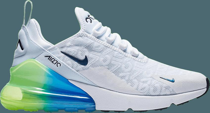 Air Max 270 Gs Platinum Emerald Nike 943346 002 Goat Adidas Shoes Women Sneakers Fashion Air Max 270