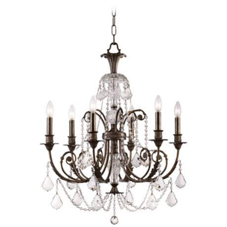 Schonbek Madison Collection Six Light Crystal Chandelier - #50087 | www.lampsplus.com