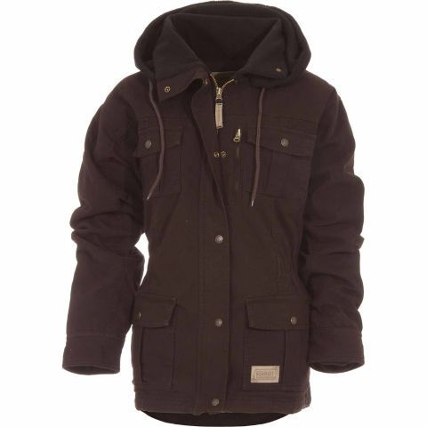 C E Schmidt Ladies Sanded Washed Duck Quilted Flannel