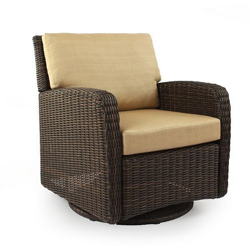 Wonderful SONOMA Outdoors™ Carmel Wicker Swivel Chair