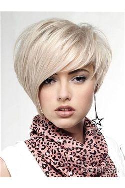 新品流行ショートヘアスタイルショートストレート8インチシルバー格安ウイッグ