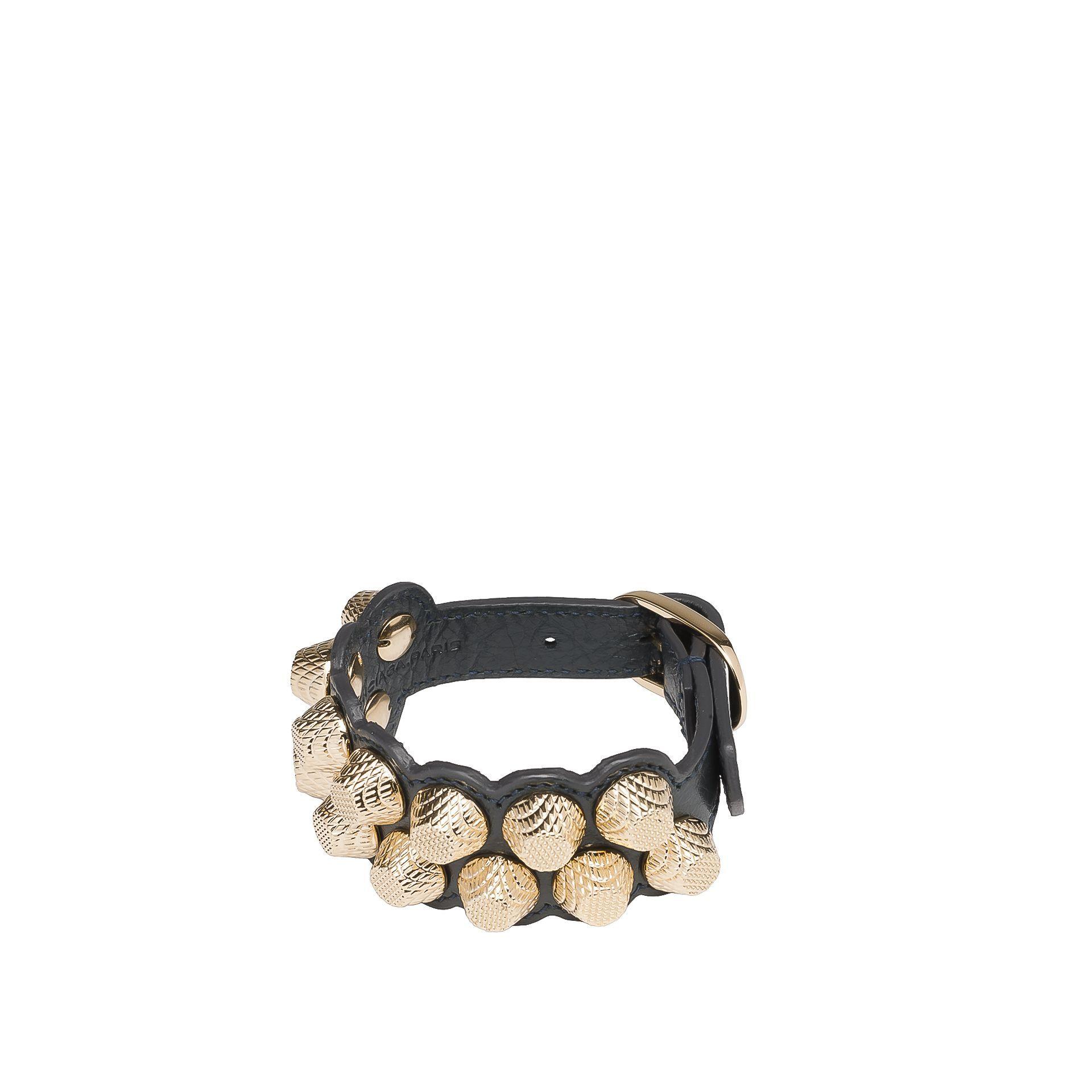 Balenciaga giant gold bracelet stud m balenciaga bracelets women