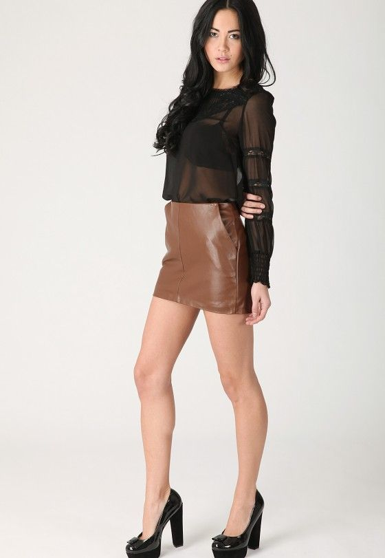 fashion skirts | Skirts 2011 Fashion For Girls Leather Skirt ...