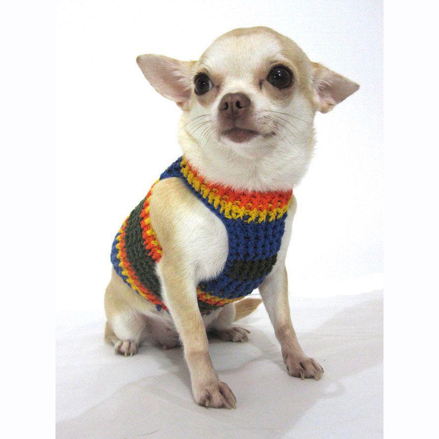 Elegant Chihuahua Clothing Handmade Crochet Small Dog By Myknitt