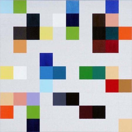 Heimo Zobernig, Untitled, 2007, acrylic on canvas,1 × 1m