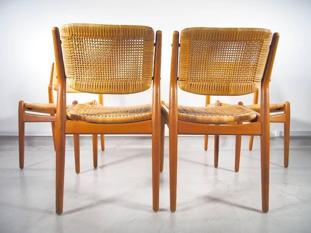 Wondrous Vintage Rattan Dining Chairs For The Home In 2019 Rattan Ocoug Best Dining Table And Chair Ideas Images Ocougorg