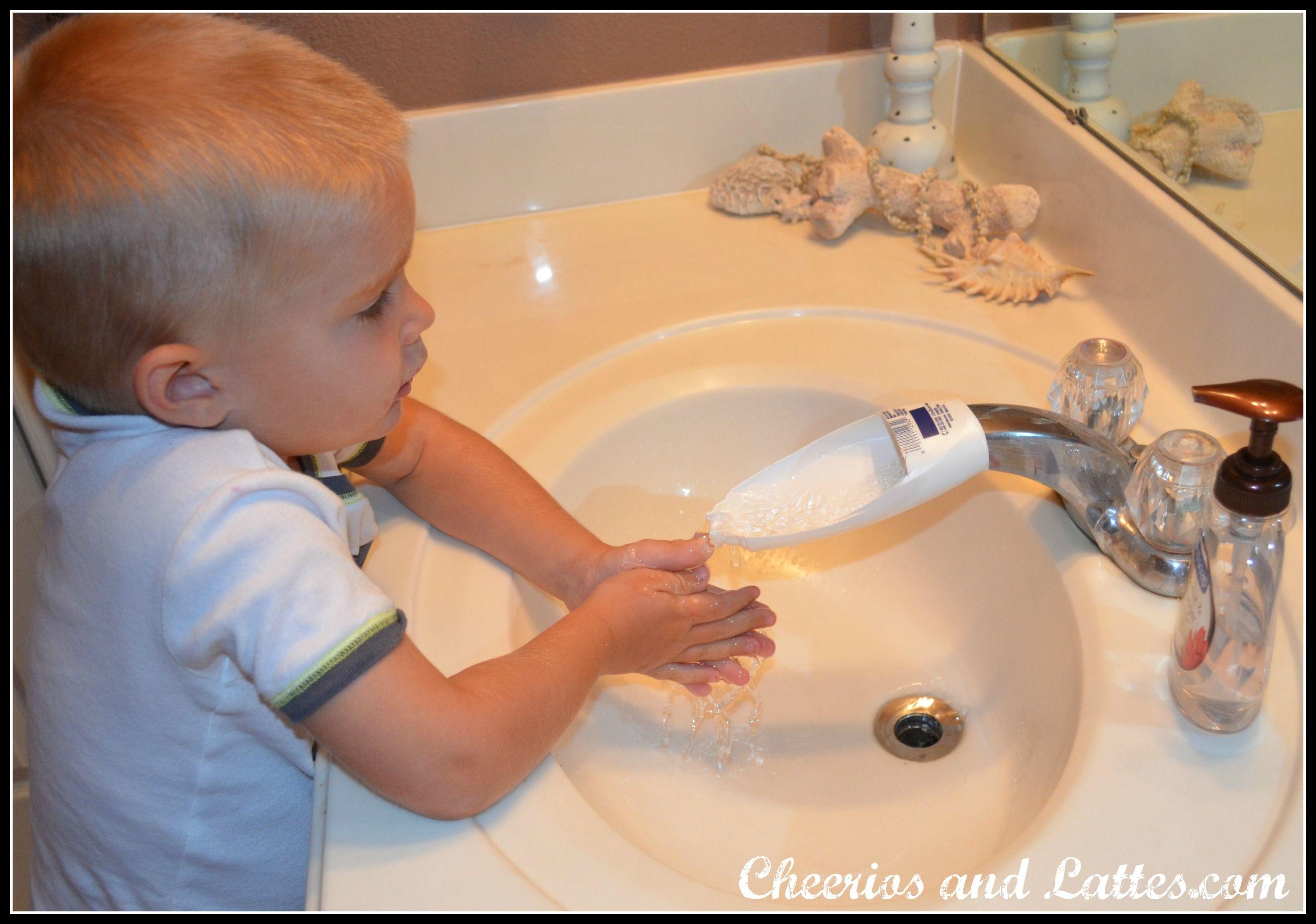 faucet extender shampoo bottles