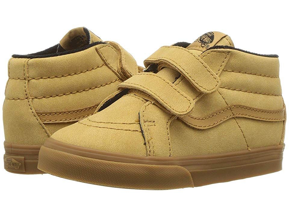 8780217dfdf5 Vans Kids Sk8-Mid Reissue V (Infant Toddler) ((MTE) Vansbuck Apple  Cinnamon) Boys Shoes. Inspired by the iconic Vans sidestripe style they ll  fall head over ...