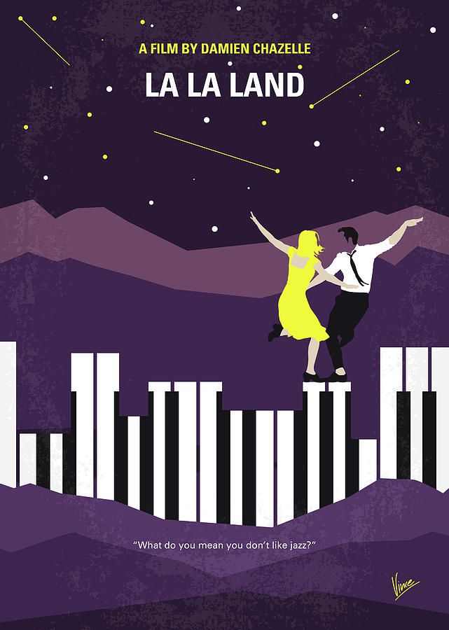 No My La La Land Minimal Movie Poster Digital Art By Chungkong - Popular movie posters get redesigned with a beautifully minimal twist