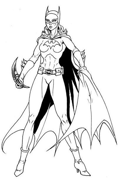 Coloring Pages For Your Girlfriend : Beautiful free printable batgirl coloring pages online