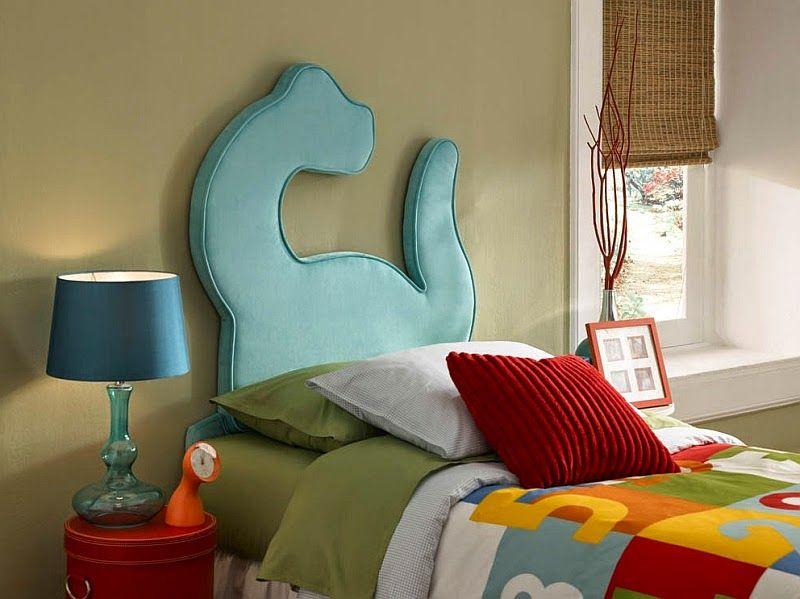 dormitorio de nios decorado con dinosaurios para camasdoble