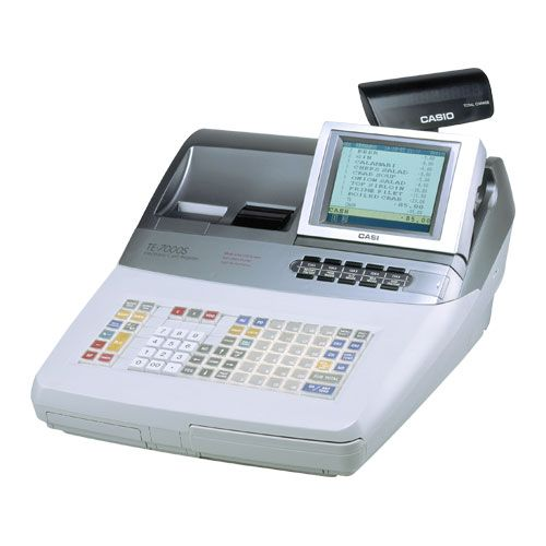 #Casio TE-7000S #PointofSaleCashRegister built primarily for the restaurant industry, with reliable high speed quiet #thermalprinters and paper #autocutter.