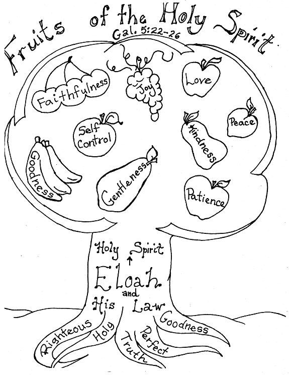 Fruit Of The Spirit Printable Coloring Page With Images