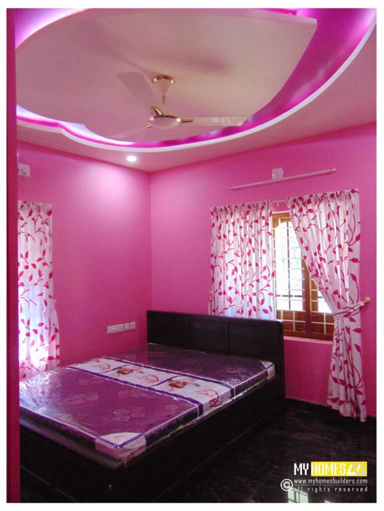 Fair simple small bedroom designs kerala style cool for Simple indian home interior design photos
