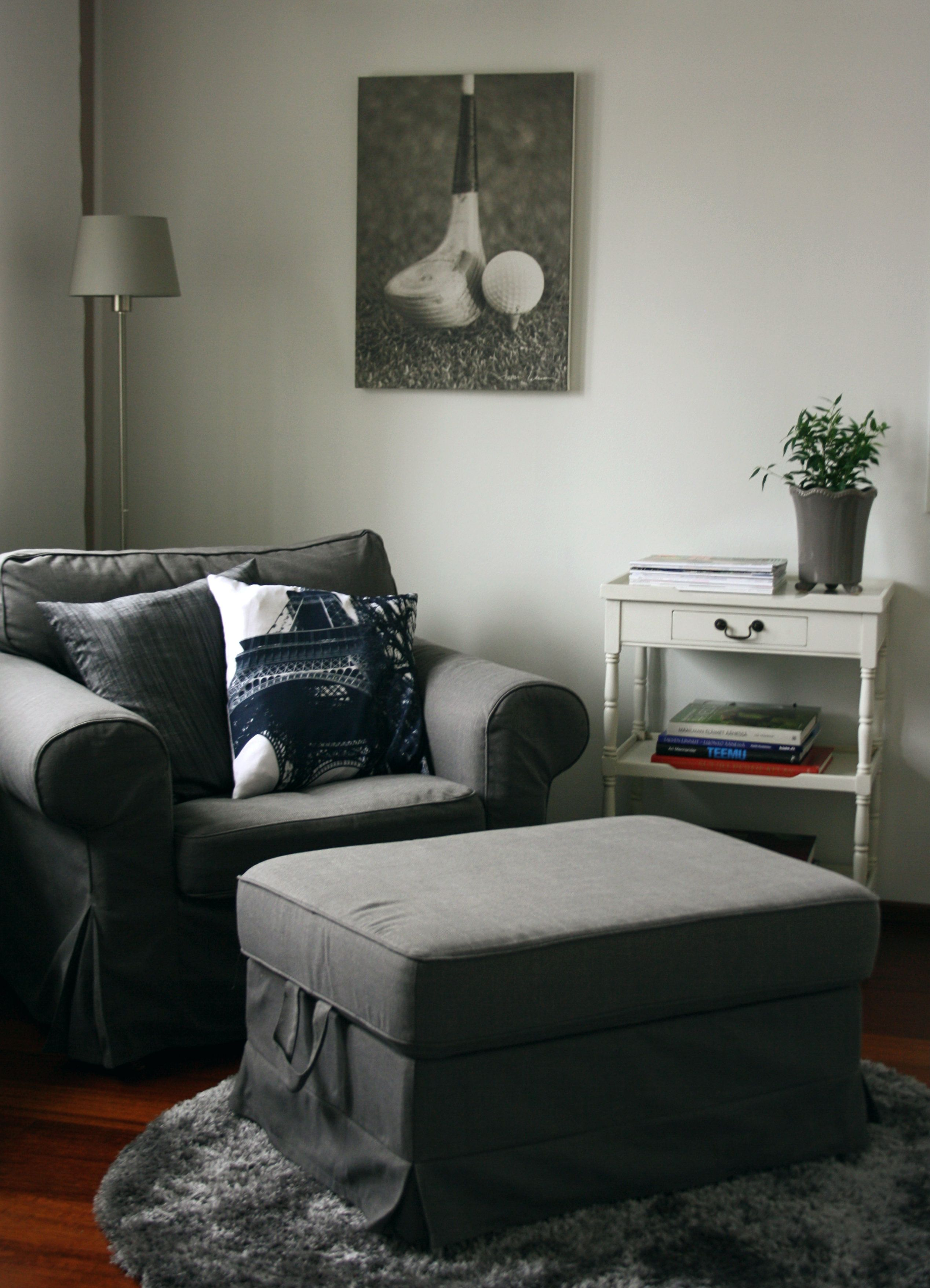 Living Room Ideas With Gray Couches The Theater Reading Nook, Ikea Ektorp Nordvalla Grey. | ...