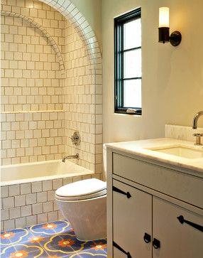 Lakewood dallas mediterranean bathroom dallas for Spanish tile bathroom floor
