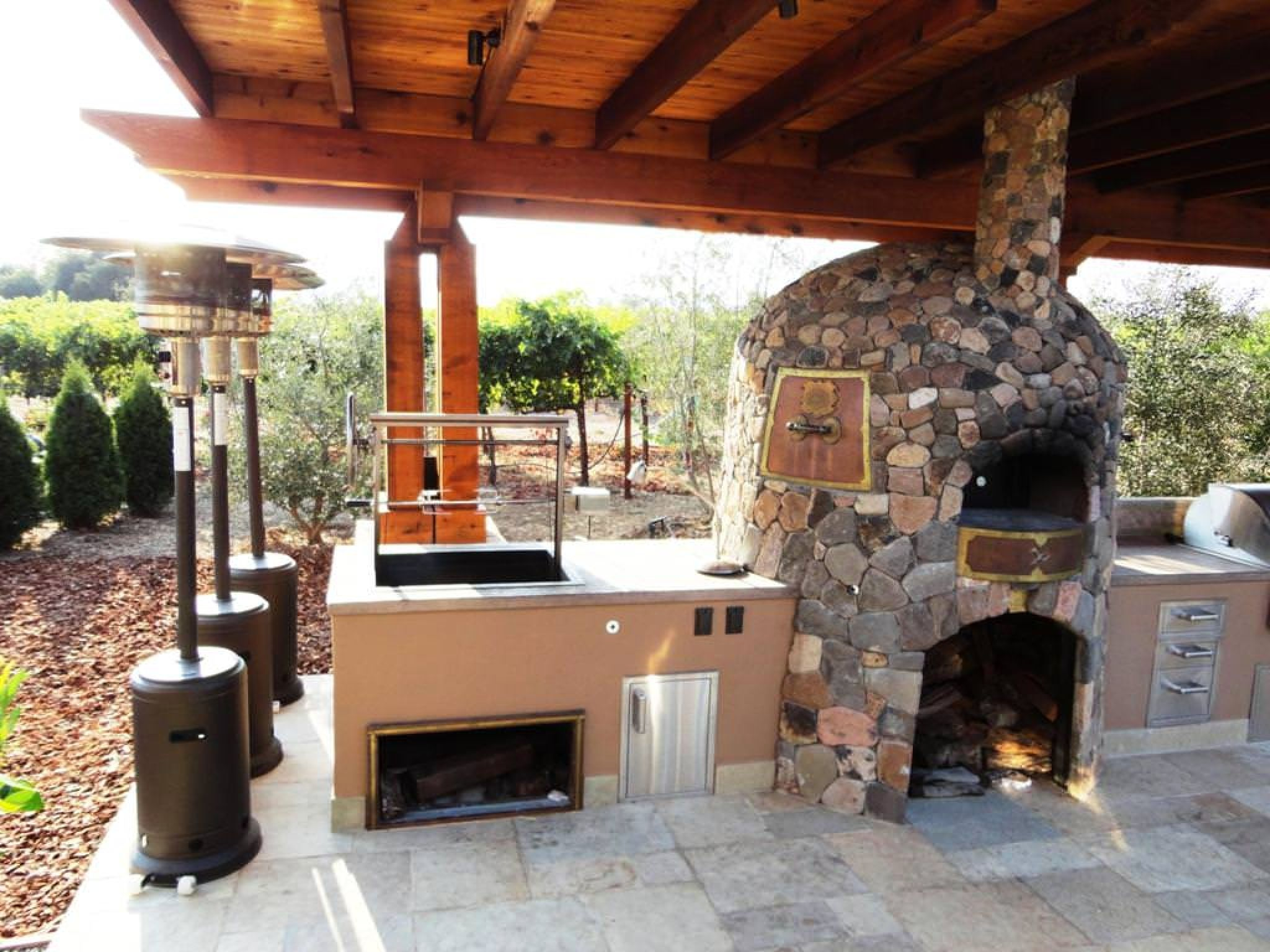 Outdoor Kitchen Designs With Pizza Oven Alluring Outdoor Kitchen With Pizza Oven Plans  Interior Paint Color Inspiration