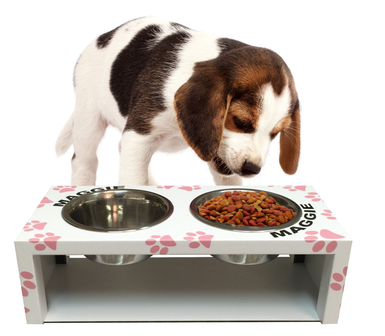 Raised Dog Bowl Stand by RIZERvue on Etsy